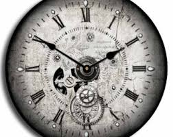 wall watch steunk wall clock etsy