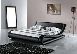 beliani leather water bed super king size full set avignon eng