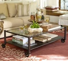 Glass Coffee Table With Wheels Metal And Glass Coffee Table Foter