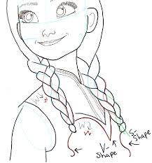 draw princess anna frozen step step tutorial