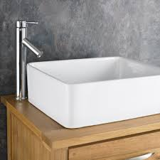 Contemporary Finish Solid Oak Wide Single Door Cabinet - Bathroom basin with cabinet