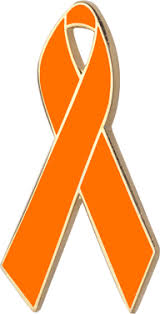 copd ribbon orange awareness ribbons lapel pins