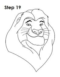 coloring pages wonderful the lion king drawing drawings sketch