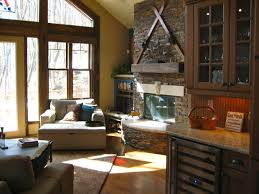country living room with fireplace and tvcountry living room with