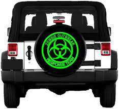 zombie jeep decals zombie outbreak response team spare tire cover