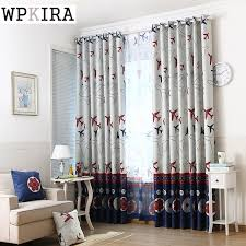 Curtains For Boys Room Modern Lovely Airplane Curtain Printed Voile Window Screen