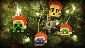 minecraft youtuber ornaments diy