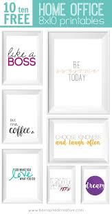 Prints For Home Decor Gorgeous Office Furniture Free Inspirational Printables Designs