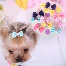 dog ribbon 2018 pet dog ribbon bow hair clip dog bowknot hairpin