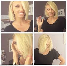 the blonde short hair woman on beverly hills housewives giuliana rancic appears blissful as she shows off her new blonde