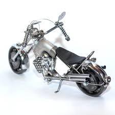 harley davidson metal motorcycle sculpture
