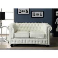 canap chesterfield blanc chester2cuirblan chesterfield canapé 2 places cuir blanc salon 2
