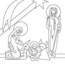 christ child mother mary coloring pages hellokids