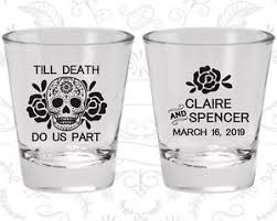 wedding favor glasses wedding glasses personalized glass 380 skull wedding
