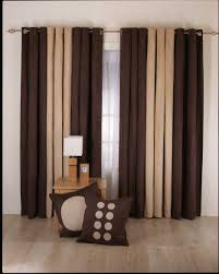 smart and tasteful modern curtains bedroom decor in brown and