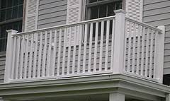 vinyl porch railings stair rail u0026 deck railing by elyria fence