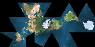 What Is A Map Projection This Is The Dymaxion Map Projection Designed By R Buckminster