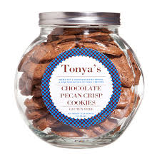 tonya s cookies chocolate pecan crisp cookie jar