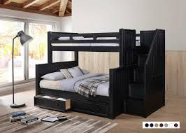 Black Bunk Beds Dillon Bunk Bed With Stairs