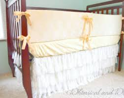 lace crib bumpers etsy
