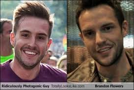 Look At The Flowers Meme - ridiculously photogenic guy totally looks like brandon flowers