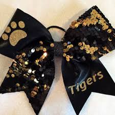 african american cheer hair bows shop black and gold cheer bows on wanelo