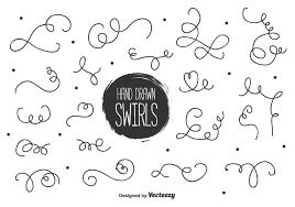 speech bubble hand drawn hand drawn swirl free vector art 10765 free downloads