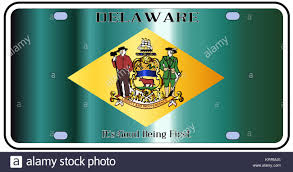 Deleware Flag Number Plate Blank Stock Photos U0026 Number Plate Blank Stock Images
