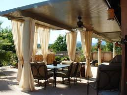 patio ideas covered patio kits with drapes for patio and patio