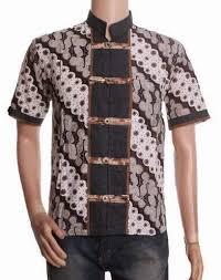 desain baju batik pria 2014 model jahitan baju batik pria terbaru yang fresh dan tren model