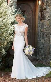bridal gown the shoulder wedding gown with lace essense of australia
