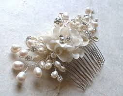 pearl hair accessories bridal headpiece wedding hair accessories flower hair comb