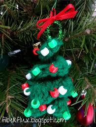 fiber flux free crochet pattern beaded spiral tree ornament