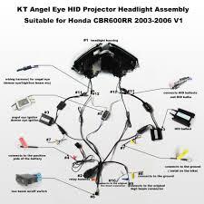 aliexpress com buy kt headlight for honda cbr600rr 2003 2006 led