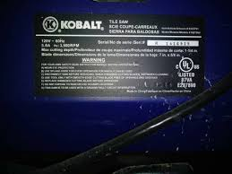Kobalt 7 in Wet Dry Tabletop Sliding Table Tile Saw With Stand KWS