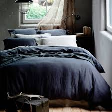 washed linen bedding sets home beds decoration