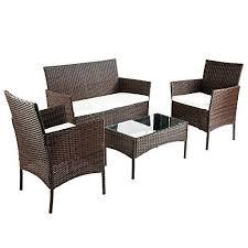 Rattan Garden Furniture Sofa Sets Brown Garden Furniture Sets Roselawnlutheran
