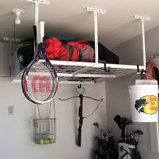 How To Build Garage Storage Lift by Overhead Garage Storage Adjustable Ceiling Rackcostco Saferacks