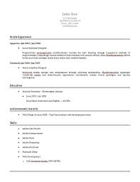 Simple Professional Resume Template Free Simple Resume Resume Template And Professional Resume