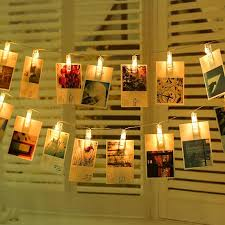 string lights with picture clips led photo string lights 20 photo clips battery powered fairy twinkle