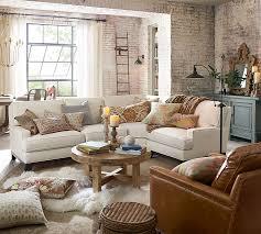 vintage livingroom leather armchair pottery barn