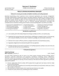 Software Engineering Manager Resume Cover Letter Sample Resumes For Engineers Sample Resume For