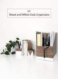 White Desk Organizer Diy Wood And White Desk Organizers To Diy
