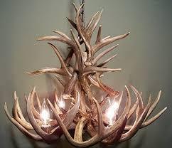 Deer Antler Light Fixtures Real Whitetail Deer Antler Chandelier 4 Lights Shed