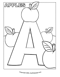 a is for apples free coloring pages for kids printable