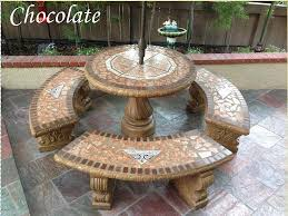cement table and chairs concrete patio table set new cement patio furniture meedee designs