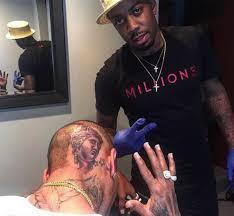 are you feeling chris brown u0027s latest tattoo bellanaija
