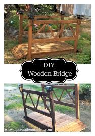 Diy Wooden Garden Furniture by Best 25 Garden Bridge Ideas On Pinterest Pallet Bridge Dry