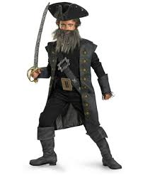 beard halloween costumes black beard kids teen disney halloween costume