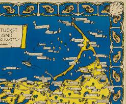 Nantucket Map Map Of Nantucket Designed By Jack Atherton Circa 1937 Sylvia